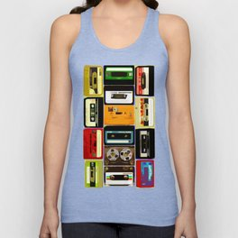 Retro Music Cassette Tapes - In Color Unisex Tank Top