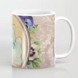 Kitschy Blue Kitten Coffee Mug