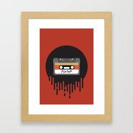 Mix Tape Cassette Framed Art Print