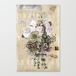 Indelicate Flowers For You Canvas Print