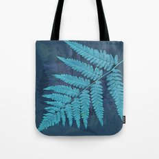 From the forest - light blue on lavender Tote Bag