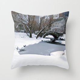 wWhite Central Park2 Throw Pillow