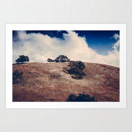 Clouds & Hills Art Print