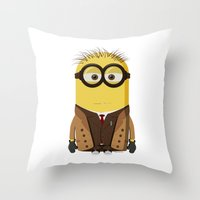 doctor who Throw Pillows featuring Doctor Who by Henrik Norberg
