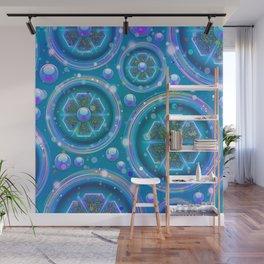 Space Age Abstract Circles Wall Mural