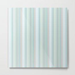 Stripe - Soft Mist Ballard Cliff Metal Print