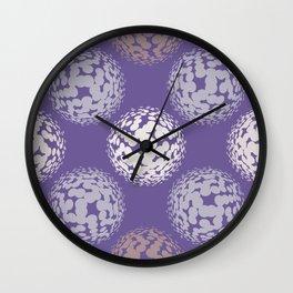 Abstract halftone polka dot ultra violet pattern Wall Clock