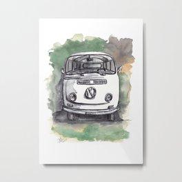 70's iconic car watercolor drawing Metal Print