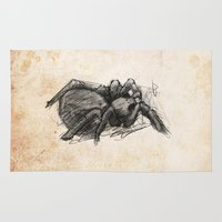 spider Area & Throw Rugs featuring Spider by Steve Perrson