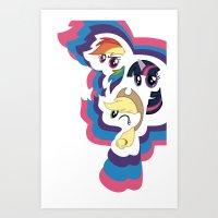mlp Art Prints featuring MLP by pixel.pwn | AK