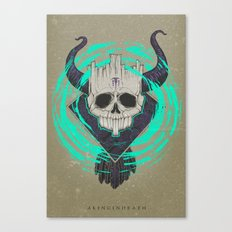 A KING IN DEATH Canvas Print