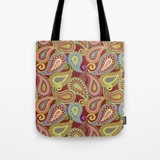 Crazee Paisleez Tote Bag