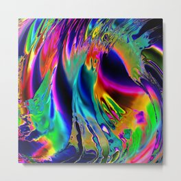 Colour  Liquified Metal Print
