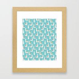 Alpaca blue Framed Art Print
