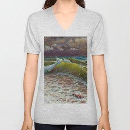 wild waves Unisex V-Neck