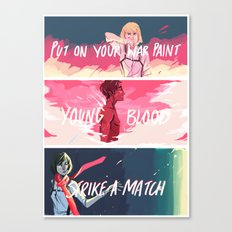 HEY, YOUNG BLOOD Canvas Print