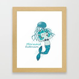 Mermaid Extension Framed Art Print