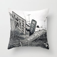 We've arrived Throw Pillow