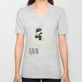 Rain is Bad for a Book Unisex V-Neck
