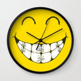 Hugs and smile Wall Clock