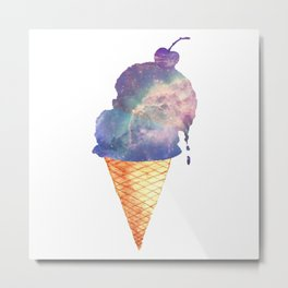 Double Scoop Space Cone  Metal Print