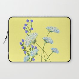 My Kentucky Wild Flowers, Queen Anne Lace and Flax Laptop Sleeve