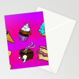 Exploding Desserts Stationery Cards
