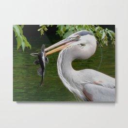 Happy Heron Metal Print