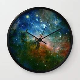 Hidden Secrets of Carina Nebula Wall Clock