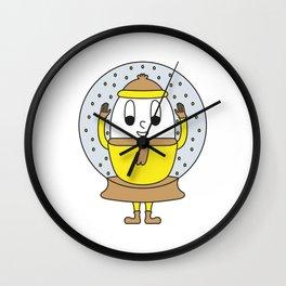 Snow-Globe Egg Wall Clock