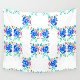 Blue Roses Wall Tapestry
