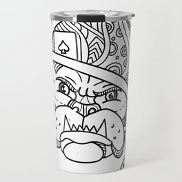 Soldier Bulldog Ace of Spade Mono Line Travel Mug