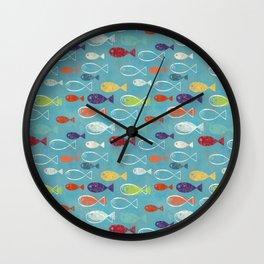 Fish poissons 100 Wall Clock