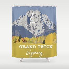 Grand Teton in Wyoming Shower Curtain
