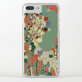"Gustav Klimt ""Textile design - Model 8"" Clear iPhone Case"