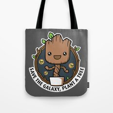 Save the Galaxy, Plant a Groot Tote Bag