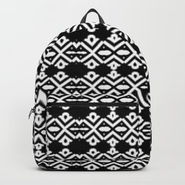 Arrows and Diamond Black and White Pattern 2 Backpack