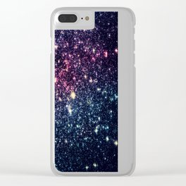 Galaxy Stars : Subtle Purple Mauve Pink Teal Clear iPhone Case