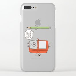 you made me feel brand new Clear iPhone Case