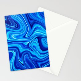 Ocean blue marble Stationery Cards