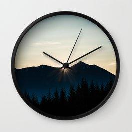 Mountain Starburst Wall Clock