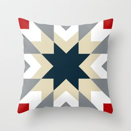 Star quilt square Throw Pillow