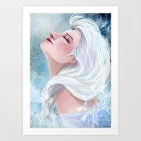 elsa Art Prints featuring Elsa by Ines92