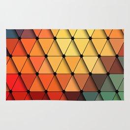 Colorful triangular grid Rug