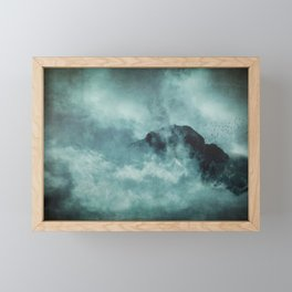 On the top of the world - Mountains Dust Framed Mini Art Print
