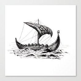 Sail away, Vikings! Canvas Print