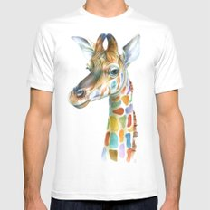 Giraffe MEDIUM Mens Fitted Tee White