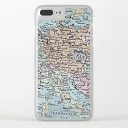 old map of Europe Clear iPhone Case