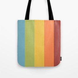 Stripe set - Retro Rainbow Sun Fade Tote Bag
