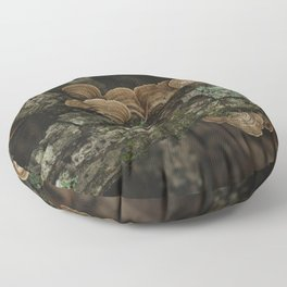 Thoughtful and Deep - Mushrooms in Forest I Floor Pillow